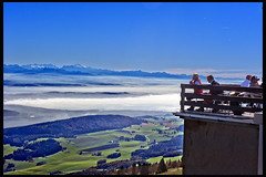 My Switzerland. The  Htel  Chasseral Balcony. No. 4729. (Izakigur) Tags: izakigur bern cantonofbern kantonbern berna montblanc alps jura nods balcony nikond700 nikkor2470f28 swiss myswitzerland musictomyeyes lasuisse laventuresuisse lepetitprince thelittleprince helvetia