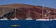 Rafting at Red Beach, Santorini (somabiswas) Tags: aegean sea seascapes boats rafts red beach landscape greece santorini akrotiri rafting
