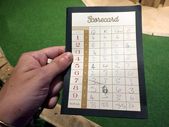 The scores on the doors (Bex.Walton) Tags: london swingers crazygolf thecity minigolf