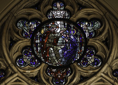 Crowned as Queen of Heaven & Earth (Lawrence OP) Tags: coronationbvm queenship blessedvirginmary ourlady queen washingtondc rose window stainedglass stpatricks cathedral newyork nyc jesuschrist angels
