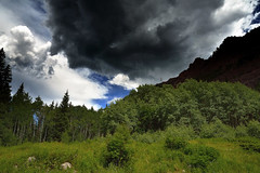 Storm cloud Snowmass creek  7 2016 (crps_1964) Tags: cloudformation valle can valley nikond4 colorado maroonformation geologicformation gelogoformacin verano tiempo senderismo clouds weather aspen summermonsoon hiking snowmasscreekcanyon snowmassco tormentadeelectrnica thunderstorms