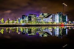 Oslo Barcode (Heli-Hansen) Tags: oslo norway barcode bjrvika srenga cityscape reflections night lights crane longexposure