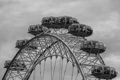 Pods (scarlet-pimp) Tags: londoneye riverthames london milleniumwheel lambeth sky monochrome mono blackandwhite places ferriswheel