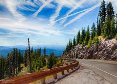 Sometimes it's OK to look back (johnrudy3) Tags: road mountains mounthood trees tree sky bluesky hdr