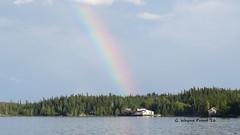 Rainbow over Lake Sesekinika (Gerald (Wayne) Prout) Tags: rainbow southbay sesekinikalake sesekinika northernontario ontario ontarione canada lake cottage grenfelltownship