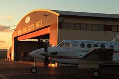 Ready to Respond (Darren Schiller) Tags: dubbo rfds royalflyingdoctorservice sunset aircraft aviation aeromedical kingairb200 hangar australia medical emergency corrugatediron