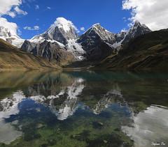 Reflets de la cordillère Huayhuash (HimalAnda) Tags: pérou peru huayhuash cordillère cordillera laguna carhuacocha montagnes mountain reflet reflection glacier neige lac lake canoneos70d eos70d stéphanebon