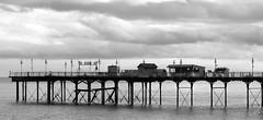 The Pier (Rebekah *) Tags: elements blackandwhite blackwhite monochrome pier sea teignmouth devon
