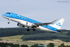 KLM Royal Dutch Airlines, Embraer 175STD, PH-EXG. (M. Leith Photography) Tags: kl1442 departing off runway 16 aberdeen lovely see basically brand new embraer international airport egpdabz 30th august 2016 aberdeenairport dyceairport dyce aviation scotland klm airlines dutch royal emb 170 nikon d7000 70200vrii sunny