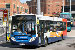 27145 SN64 OHT (Cumberland Patriot) Tags: stagecoach north west on merseyside in liverpool glenvale adl alexander dennis dart slf super low floor enviro 300 e300 sn64oht 27145 buses queen square bus station city centre passenger transport road vehicle