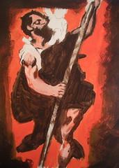 Titian Painting Acrylic (JeremiahGC) Tags: titian acrylic painting copy oldmaster man saint