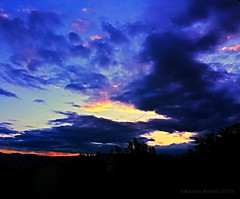 Blue houre (Kakha KOLKHI) Tags: sky sunset color evening couche de soleil soir tbilisi georgia fire clouds red blue hour gldani
