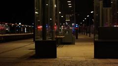 Waiting (Rind Photo) Tags: station platform train long exposure frederikshavn lights blue windows street art architecture atmosphere colours