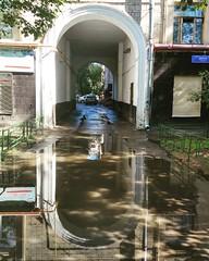 arch (Gjabu) Tags:       cityscape rain arch pool water reflection