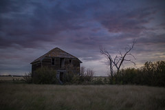 Midnight Homecoming (gerrypocha) Tags: derelict abandoned lost forgotten ornate house night prairie farm
