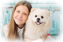 (MissSmile) Tags: misssmile smile joy friends together pet dog adorable sweet memories studio childhood girl puppy