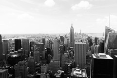 Just another (Livesey's) Tags: 550d canon eos 17mm tamron bw black white nyc newyork ny city new york usa rockafeller topoftherock view sky concrete jungle concretejungle dreams