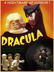 Dracula (Leda Kat) Tags: lego vampire dracula posters horror movies monsters universalstudios belalugosi