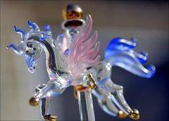 45/52 Glass (elliemae224) Tags: pink blue horse macro glass canon carousel late grrrr dangit macrolicious 52weeksofpix2012 52weeks2012