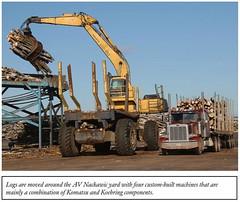 Komoehring (The Koehring Guy) Tags: new mill pc conversion logging brunswick 400 l loader komatsu av k4 unload nackawic kbl forwarder koehring pc400 k4lf komoehring