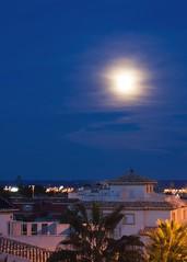 Spanish Moonlight (margaret117) Tags: sea colour castles sunshine spain sand warmth windmills moonlight costablanca