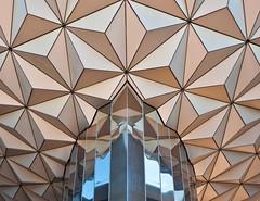 Geometric Shapes (Ray Horwath) Tags: abstract lines architecture triangles epcot nikon disney disneyworld nikkor wdw waltdisneyworld spaceshipearth geometricshapes nikkorlens horwath d700 disneyphotos epcotsfutureworld disneyphotochallenge rayhorwath nikkor20mmf28lens