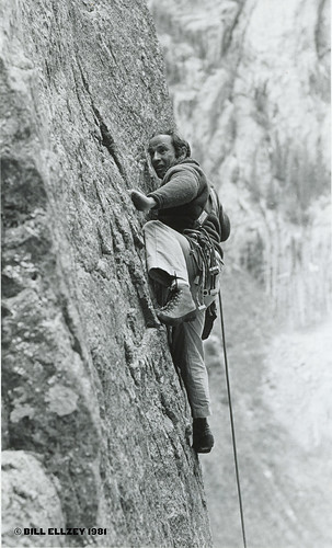 Yvon Chouinard climing during Mountainfilm