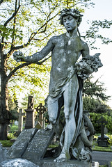 _DSC0233 (Pawel Giedymin Puzio) Tags: sculpture london cemetery grave graveyard angel death wings nikon cross amor angels sculptures pawel giedymin nikond3000 puzio pentaxonik