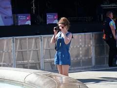 Female Photographer (Waterford_Man) Tags: camera blue summer people girl women photographer trafalgarsquare
