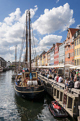Nyhavn - Copenhagen (bvi4092) Tags: city blue red sky urban water photoshop copenhagen denmark nyhavn boat canal nikon transport bluesky transportation nikkor d300s nikon18105mmf3556