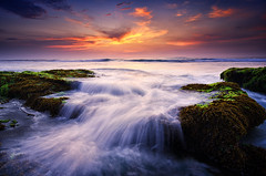 Serenade [Explored] (eggysayoga) Tags: sunset sea seascape motion beach water landscape moss nikon lima wave tokina filter 09 lee nd pantai graduated waterscape gnd 1116mm d7000