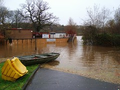Police dog training compound flooded (adm cro) Tags: whitecartwater spate highflow