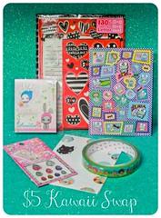 $5 Kawaii Swap (AnnaSwaps) Tags: fairytale stickers kawaii jewels keroppi sanx sugarandspice letterset swapbot decotape ruusuu
