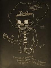 """""""Você Só Pode Estar Brincando"""" (Mateus F. Abreu) Tags: music skull guitar song hidrocor"""