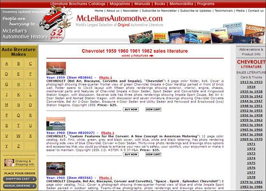 postcards brochures memorabilia leaflets automobilia racingprogram chevroletliterature chevroletsalesbrochures chevroletcatalogs chevroletpresskits chevroletbooks chevroletmagazines chevroletmanuals chevroletdealerliterature