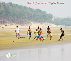 Beach Football at Digha Beach, West Bengal (Dilip Datta) Tags: beach football westbengal beachfootball dighabeach dilipdatta