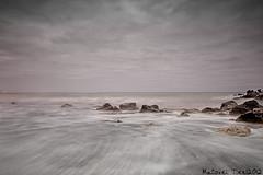 Seascape (Macovei Tinel) Tags: longexposure sea clouds nikon rocks cloudy romania blacksea constanta d7000