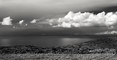 Lake Titicaca (guissimo) Tags: travel bw lake peru titicaca southamerica nature water monochrome clouds landscape lago island agua hiking nubes andes isla altiplano puno sudamerica amantani 1635mm amantan