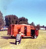 How my father met my mother. Dad's custom Dodge Econoline. (wambamashleyanne) Tags: california film kodak van 1970s furburger
