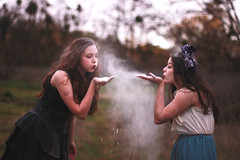 (Molly Bakerr) Tags: winter girls wild ballet girl make up fashion forest vintage hair photography dance shoes baker friendship wind tales action shots smoke makeup peterpan molly fairy pointe brunette dust conceptual flour neverland twigs tress bows fairytales