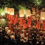 Yee Peng Chiangmai 2012 : Phan Tao Temple Chiangmai Thailand.