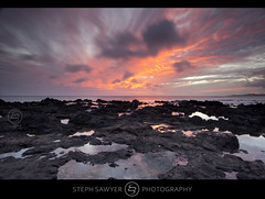 Po' ipu Beach Sunset (Steph Sawyer Photography (will catch up slowly)) Tags: sunset hawaii pacificocean kauai poipu southshore poipubeach lavarock stephsawyerphotography
