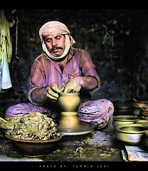 A Poet, who makes poetry with hands (Tanwir Jogi) Tags: travel pakistan beautiful trekking trek golden poetry potter pot clay cannon pottery traveling tours lahore treks jogi g9 potmaking terracottapots beautifulpakistan trekkinginpakistan potmaker cannong9 tanwir travelinginpakistan thetrekkerz tourisminpakistan tanwirjogi