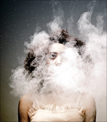. (majestiele) Tags: portrait people mist face clouds person gritty powder gabrielle gradient desaturated grainy brunette thestoryteller