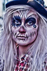 7D0097b (Grunge) Scarcrow 1 - Whitby Goth Weekend 3rd Nov 2012 (gemini2546) Tags: nov grunge goth week 3rd 2470 canon sigma paint hair face 7d lens blond whitby 2012 scarcrow grunge female wgw