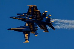 This might be called the Accordian Formation (Alaskan Dude) Tags: travel florida aviation airplanes blueangels pensacola airshows pensacolanas