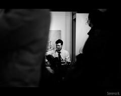 """Finissage Mostra personale Alessandra Carloni """"il tempo Meccanico"""" con accompagnamento musicale del gruppo blues C.S.S.R. (Serena Bigi) Tags: mostra italy music rome rock photo concert moments italia foto guitar live band blues bn concerto persone musica fotografia bianconero galleria rm campomarzio cssr finissage samcro serenabigi tempomeccanico alessandracarloni viagiulairoma"""