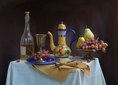 Festive Cheer. (Esther Spektor - Thanks for 6 millions views..) Tags: blue light red stilllife food brown white black color reflection green art glass yellow metal fruit bronze