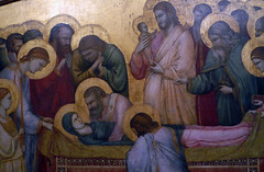 Giotto, The Entombment of Mary, detail with central scenes