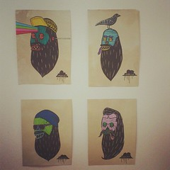 Collection of black beard brothers going out to those who bought some prints at my meylah shop.yew! (Mulga The Artist) Tags: square squareformat rise iphoneography instagramapp uploaded:by=instagram